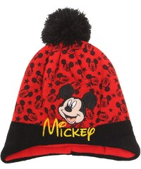 Disney Mickey Mütze rot in Größe 52 für Jungen aus 100% Polyacryl Futter: 100% Polyester