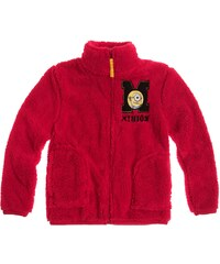 Minions Polar Fleece Jacke bordeaux rot in Größe 116 für Jungen aus 100 % Polyester
