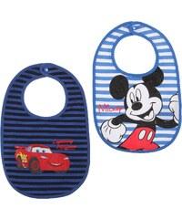 Disney Mickey 2 er Pack Lätzchen blau in Größe UNI für Jungen aus 100% Baumwolle