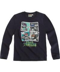 Ninja Turtles Langarmshirt marine blau in Größe 116 für Jungen aus 100% Baumwolle