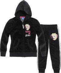 Disney Die Eiskönigin Jogginganzug schwarz in Größe 104 für Mädchen aus 80% Baumwolle 20% Polyester