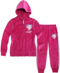 Disney Die Eiskönigin Jogginganzug pink in Größe 104 für Mädchen aus 80% Baumwolle 20% Polyester