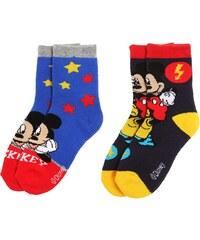 Disney Mickey 2 er Pack Socken blau in Größe 23-26 für Jungen aus 75% Baumwolle 20% Polyester 5% Elasthan