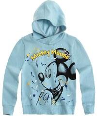 Disney Mickey Sweatshirt mit Kapuze blau in Größe 98 für Jungen aus 82% Baumwolle 18% Polyester