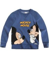 Disney Mickey Sweatshirt blau in Größe 98 für Jungen aus 82% Baumwolle 18% Polyester