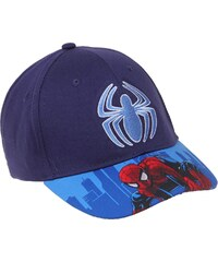 Spiderman Cap blau in Größe 52 für Jungen aus 100% Baumwolle