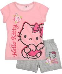 Hello Kitty Shorty-Pyjama rosa in Größe 98 für Mädchen aus 100% Baumwolle Graumelange: 95% Baumwolle 5% Viskose