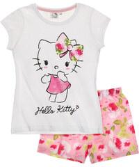 Hello Kitty Shorty-Pyjama weiß in Größe 98 für Mädchen aus 100% Baumwolle