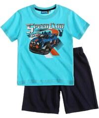 Hot Wheels Shorty-Pyjama blau in Größe 104 für Jungen aus 100% Baumwolle