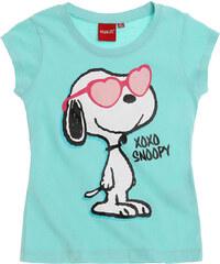 Snoopy T-Shirt blau in Größe 116 für Mädchen aus 100% Baumwolle