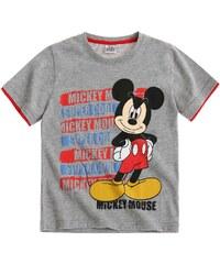 Disney Mickey T-Shirt grau in Größe 98 für Jungen aus 60 % Baumwolle 40 % Polyester