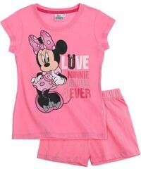Disney Minnie Shorty-Pyjama pink in Größe 104 für Mädchen aus 100% Baumwolle