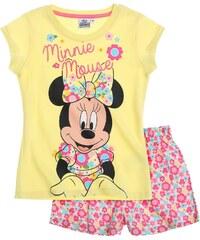 Disney Minnie Shorty-Pyjama gelb in Größe 104 für Mädchen aus 100% Baumwolle