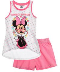Disney Minnie Shorty-Pyjama weiß in Größe 104 für Mädchen aus 100% Baumwolle