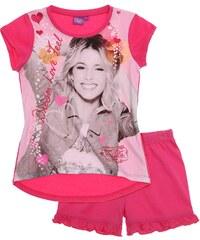 Disney Violetta Shorty-Pyjama pink in Größe 128 für Mädchen aus 100% Baumwolle