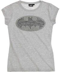 Batman T-Shirt grau in Größe S für Damen aus 100% Baumwolle Graumelange: 95% Baumwolle 5% Viskose