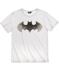 Batman T-Shirt weiß in Größe S für Herren aus 100% Baumwolle