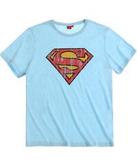 Superman T-Shirt blau in Größe S für Herren aus 60 % Baumwolle 40 % Polyester