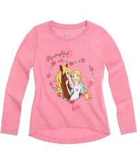 Barbie Langarmshirt pink in Größe 104 für Mädchen aus 100% Baumwolle