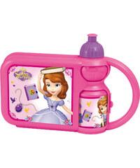 Disney Sofia die Erste Set bestehend aus 1 Pausenbrotbox + 1 Trinkflasche pink in Größe UNI für Mädchen