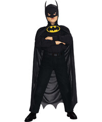 Batman Umhang schwarz in Größe UNI für Jungen aus 100% Polyester