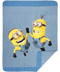 Minions Fleece-Decke blau in Größe UNI für Jungen aus 100% Polyester