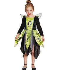 Disney Tinker Bell Kostüm schwarz in Größe S für Mädchen aus Obermaterial: 100% Polyester