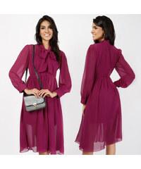 Lesara Chiffon-Kleid mit Schleife - S