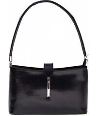 Genuine Leather Kožené kabelky klasické a elegantní černá