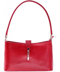 Genuine Leather Kožené kabelky klasické a elegantní červená