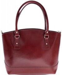 Genuine Leather Univerzální kožená italská kabelka na každý den hnědá