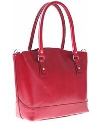 Genuine Leather Univerzální kožená italská kabelka na každý den červená