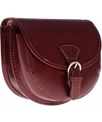 Florance Collection Malá kožená kabelka listonoška hnědá