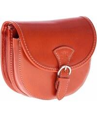 Florance Collection Malá kožená kabelka listonoška zrzavá