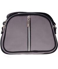 Kožené kabelky listonošky Genuine Leather 3 přihrádky Světle šedá
