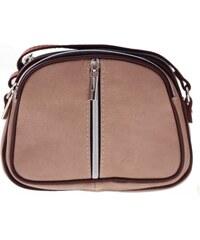 Kožené kabelky listonošky Genuine Leather 3 přihrádky zemitá 7c5735ebeb6