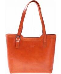 Vera Pelle Klasické kabelky z přírodní kůže zrzavá