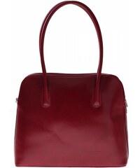 Vera Pelle Univerzální kožená kabelka 2 přihrádky červená
