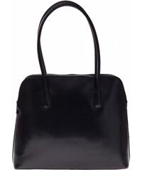 Vera Pelle Univerzální kožená kabelka 2 přihrádky černá