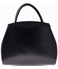 Genuine Leather Kožená kabelka kufřík s možností rozšíření černá