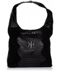 Vera Pelle Kožené kabelky Aligator černá