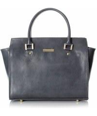 Genuine Leather Módní kožená kabelka kufřík šedá