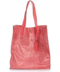 Vera Pelle Kožená kabelka Shopper Bags kosmetickou kapsičkou malinová