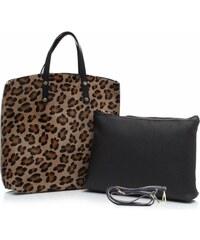 Genuine Leather Kožená kabelka Shopperbag s kosmetickou kapsičkou