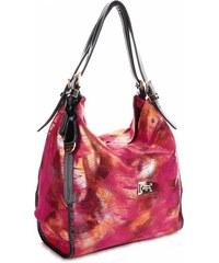 Elegantní Italská kožená kabelka Velina Fabbiano fuscia