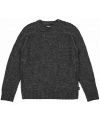 košile BRIXTON - Emmon Sweater Heather Black (0102)
