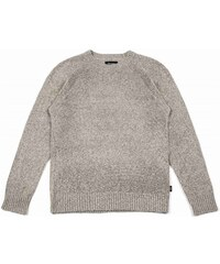 košile BRIXTON - Emmon Sweater Heather Grey (0304)