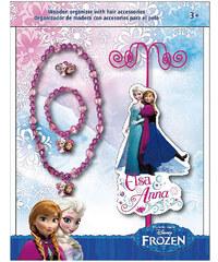 Disney Dívčí stojánek na šperky s doplňky Frozen - růžový