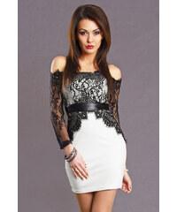 Dámské společenské krátké šaty EMAMODA bílé