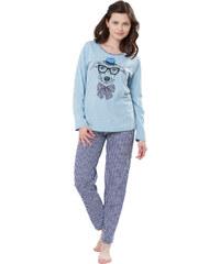 Family pyjamas Dámské pyžamo PYJAMA ZUZA 212 BLUE
